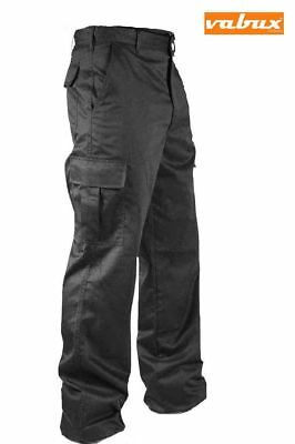 Mens Cargo Combat Work Trousers Size 28 to 46 Black Navy By VABUX