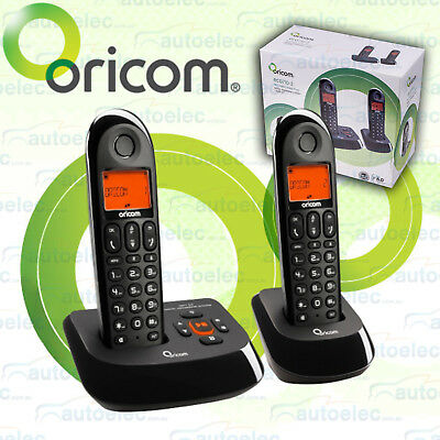 Oricom Cordless Phone + Corded Home Telephone Answer Machine Dect Pack Eco710-2