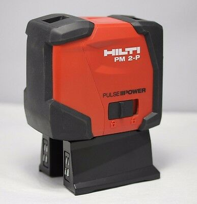 "Hilti PM 2-P 2047037 Plumb Laser, 3ft/100ft Min/Max, +/- 1/16"" @ 30ft. w/ Pouch"