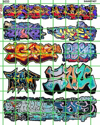 6033 Dave's Decals Ho Scale Urban Graffiti Train Boxcars Street City Walls