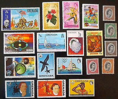 GRENADA   Mixed lot of 19 different stamps  Used    Lot #1