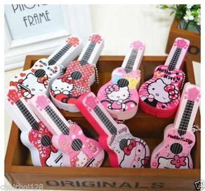 Hello Kitty Mini Guitar Contact Lens Case 4-in-1 Travel Set Rare x 1pcs KK291