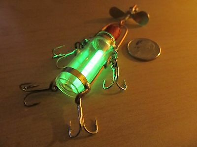 Vintage Style Glass Lures(FIREFLY SPINNER)use live bait