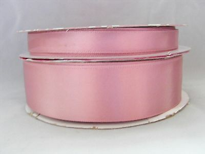 """Dusty Pink  Single Faced Satin Ribbon - Various Widths   - 3/8""""(10mm) & 1""""(25mm)"""