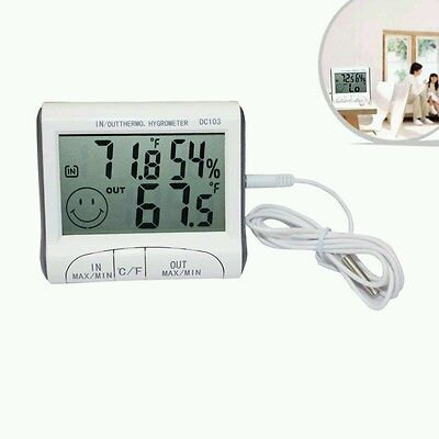 Digital LCD Thermometer Humidity Meter Kitchen Room Indoor Outdoor Hygrometer
