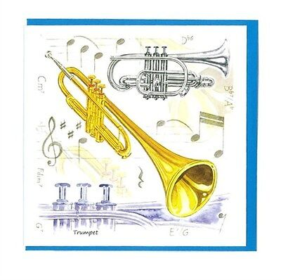 Little Snoring Gifts: Notelets Pack Of Five – Trumpet Design.