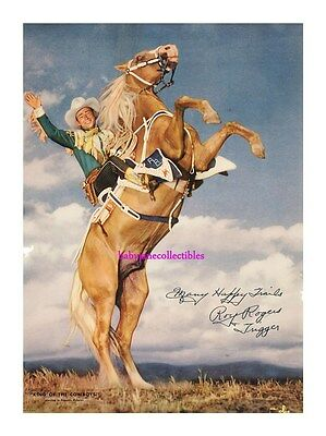 ROY ROGERS AND TRIGGER HORSE printe sig autograph photo 111