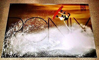 """RONIX ONE DANNY HARF TIMEBOMB BANNER 48"""" * 32"""" 2  Ronix Wakeboard Stickers Decal"""