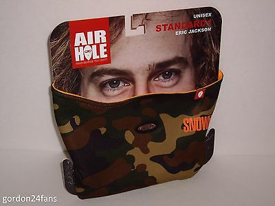 Air Hole Standard 1 Unisex Face Mask!!!! Transworld Snowboarding Eric Jackson Bn