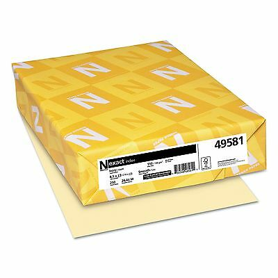 Neenah Paper - Exact Index Card Stock, 110 lbs., 8-1/2 x 11, Ivory - 250 Sheets