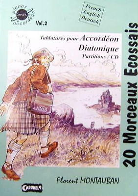 Accordion diatonic : collection of tablatures 20 pieces Scottish