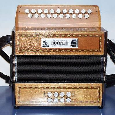 Accordion diatonic Hohner Mendis 2 sol/do with bass drum, NEW WARRANTY 2 years