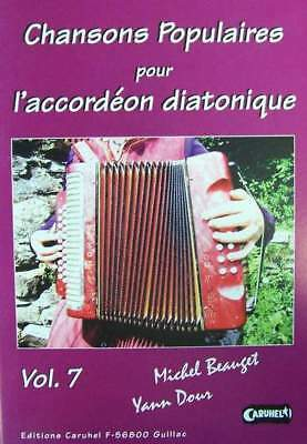 Accordion diatonic Tablatures Songs popular v.7 new with CD