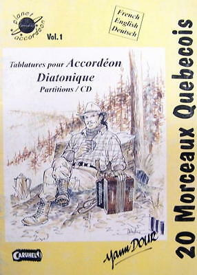 Accordion diatonic : collection of tablatures : 20 pieces Quebecers
