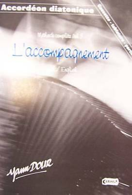 Accordion diatonic Tablatures method complete vol. 3 with CD, by Yann Dour