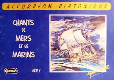 Accordion diatonic Tablatures Songs of Marins No. 1 new with CD