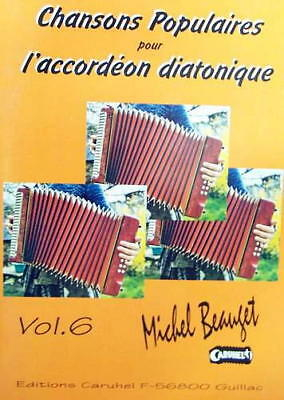 Accordion diatonic Tablatures Songs popular v.6 - Collection new with CD
