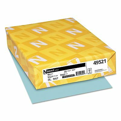 Neenah Paper - Exact Index Card Stock, 110 lbs.,8-1/2 x11, Blue -250 Sheets/Pack