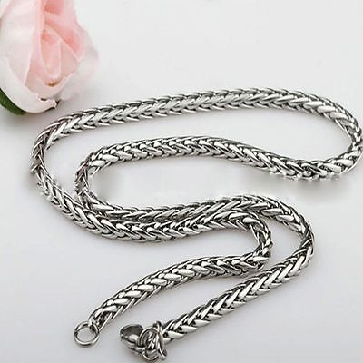Jewel Chain Womens Mens Rope 3/4/5/6MM Necklace Braided Silver Stainless