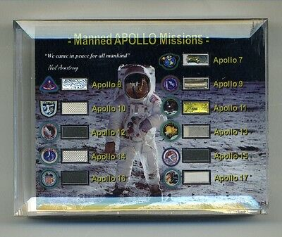 Flown Fragments From Every Manned Apollo Space & Lunar Flight - With COA - NASA