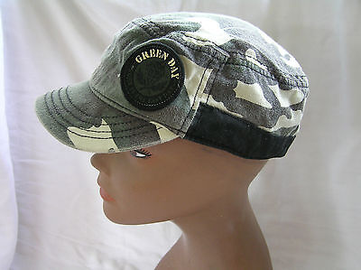 Green Day Born in the East Bay Camo Hat, S/M, Pre-Owned
