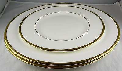 3 Royal Doulton Bone China Delacourt Plates: 2 Dinner Plates + 1 Salad Plate