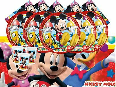 Disney Mickey Mouse Club House Childrens Birthday Party Tableware Pack 16 Guests