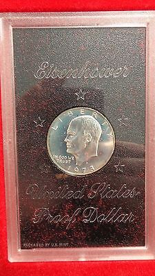1973 Ike Eisenhower 40% Silver Dollar Proof In Brown Box