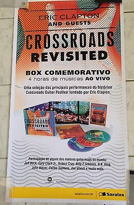 ERIC CLAPTON - Crossroads Revisited -  BRAZIL LIMITED EDITION PROMO POSTER 2016