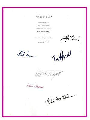 The Thing Script Signed  Rpt Kurt Russell  Wilford Brimley  Donald Moffat