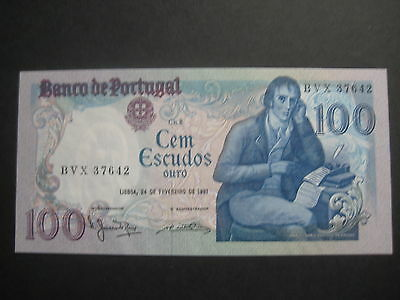 PORTUGAL 1980-89 ISSUE - 100 ESCUDOS - 24 February 1981 - SIG VARIETY -  UNC