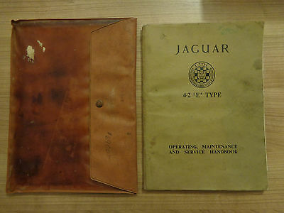 Jaguar E Type Series 1 Roadster/FHC 4.2 Owners Handbook/Manual and Wallet