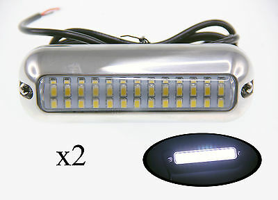 "Pactrade Marine 2 Boat  Pontoon  S.S.316 White 39 LED Underwater Light 4 3/4"" L"