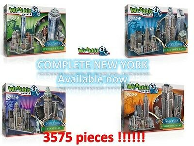 NEW YORK CITY - WREBBIT 3D - COMPLETE SERIE -  puzz puzzle jigsaw - NEW SEALED