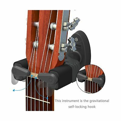 Guitar Hanger Auto Lock Rack Hook Holder Wall Mount Bracket Home Studio Displ...