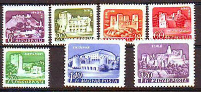 HUNGARY - 1960. Castles set on coloured paper - MNH