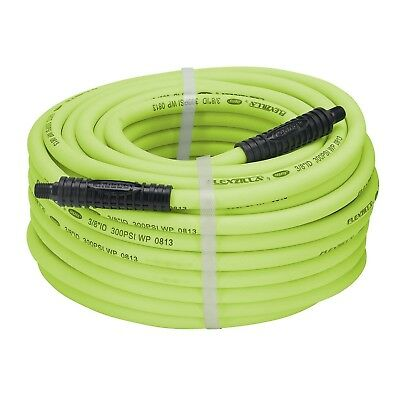 Flexzilla Air Hose 3/8 in. x 100 ft. 1/4 in. MNPT Fittings Heavy Duty Lightwe...