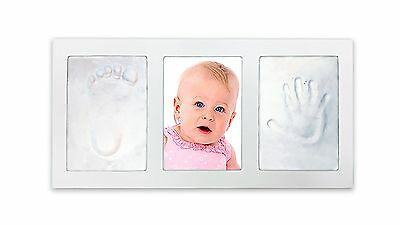 Decor Hut Baby keepsakes photo frame with 2 packs of clay to imprint hand... New