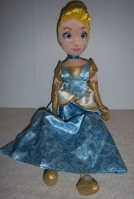 "Disney Store Cinderella Doll 15""- Blue Dress/Gold Accents (Golden Cindy)"