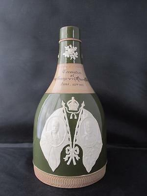 Antique Copeland Spode Decanter Commemorating 1911 Coronation of King George 5th