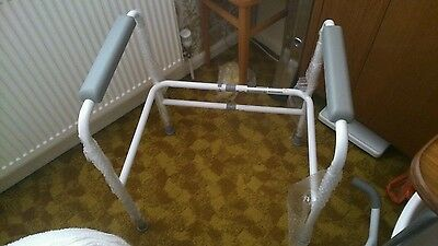 Toilet Safety Frame, Grab Bars, Adjustable Height and Width Support Aid, new