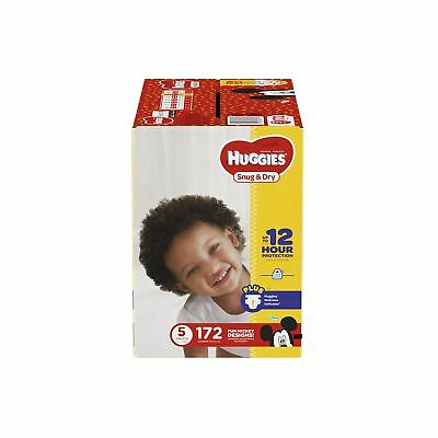 Huggies Snug & Dry Diapers Size 5 172 Count (One Month Supply) (Packaging may...