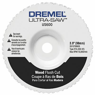 Dremel US600-01 Ultra-Saw 4-Inch Wood Flush Cut Wheel New