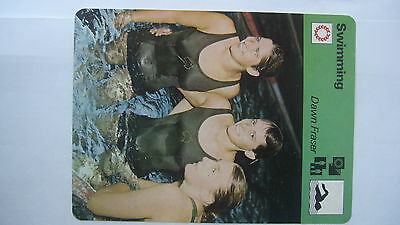 Rare Sportscaster Rencontre Collectable  Card Swimming Dawn Fraser