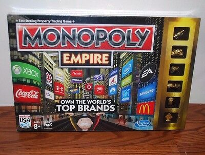(New Sealed) Monopoly Empire Board Game Family Night Games Gold Edition Tokens