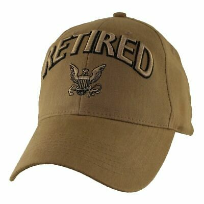 288a40498a8b6 New U.s Navy Retired Coyote Brown Hat 3D Embroidered Raised Letters Ball Cap