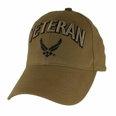 70a60223bb0a2 New U.s Air Force Veteran Coyote Brown Hat 3D Embroidered Official Ball Cap