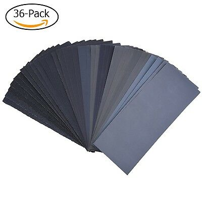 120 to 3000 Assorted Grit Sandpaper for Wood Furniture Finishing Metal Sandin...