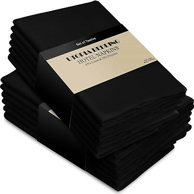 Cotton Dinner Napkins Navy-Blue - 12 Pack (18 inches x18 inches) Soft and Com...