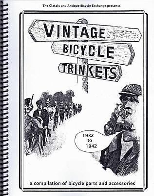 VINTAGE BICYCLE TRINKETS book of bicycle Parts and ACCESSORIES 1932 to 1942